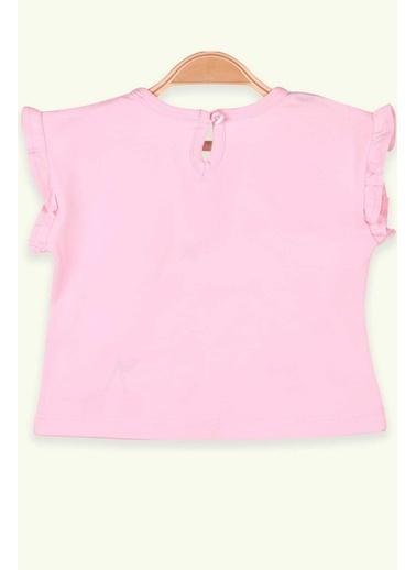 Breeze Kız Çocuk Tişört Kirazlı Pullu Pudra (1.5-5 Yaş) Pudra